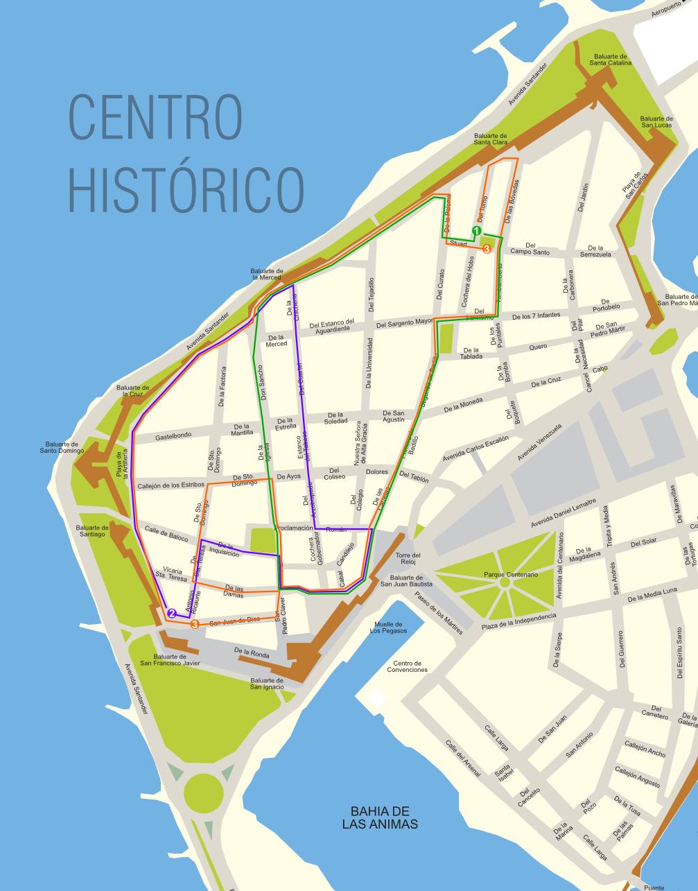 Paseo En Coche Cartagena De Indias - Cartagena de indias map
